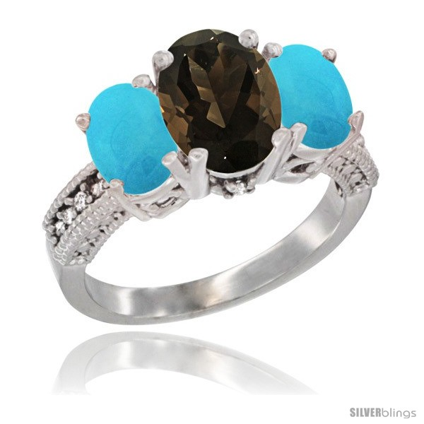 https://www.silverblings.com/16863-thickbox_default/10k-white-gold-ladies-natural-smoky-topaz-oval-3-stone-ring-turquoise-sides-diamond-accent.jpg