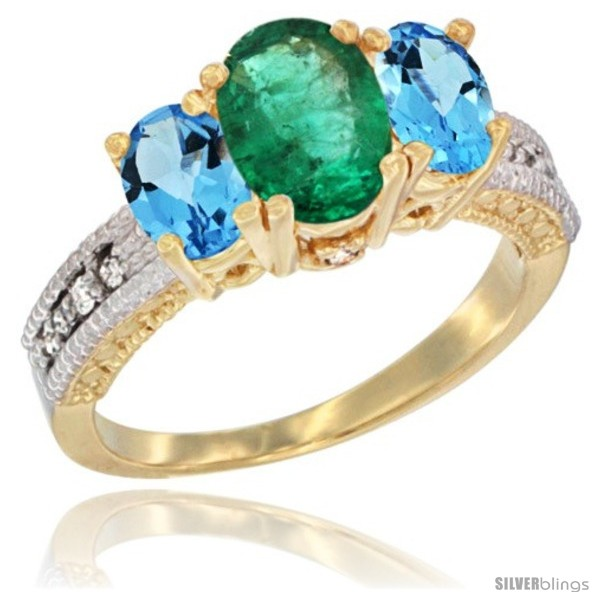 https://www.silverblings.com/16878-thickbox_default/10k-yellow-gold-ladies-oval-natural-emerald-3-stone-ring-swiss-blue-topaz-sides-diamond-accent.jpg