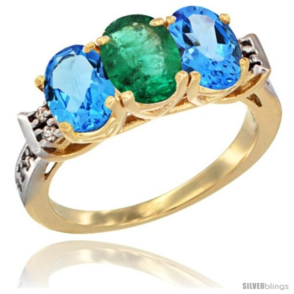 https://www.silverblings.com/16881-thickbox_default/10k-yellow-gold-natural-emerald-swiss-blue-topaz-sides-ring-3-stone-oval-7x5-mm-diamond-accent.jpg