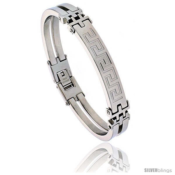 https://www.silverblings.com/1690-thickbox_default/stainless-steel-greek-key-bracelet-3-8-in-wide-8-in-long.jpg