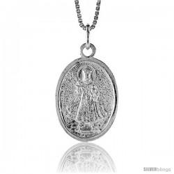 Sterling Silver Baby Jesus / Santo Nino Pendant, 1 1/16 in