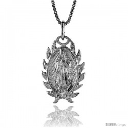 Sterling Silver Mary Immaculate Medal, 7/8 in