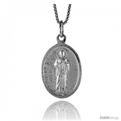 Sterling Silver Saint Joseph Medal, 7/8 in