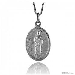 Sterling Silver Saint Joseph Medal, 7/8 in