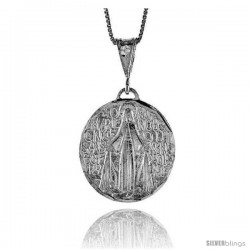 Sterling Silver Mary Immaculate Medal, 1 1/8 in