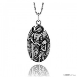 Sterling Silver Madonna & Child Medal, 1 in