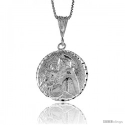 Sterling Silver Saint Joseph Medal, 1 in