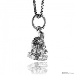 Sterling Silver Buddha Pendant, 1/2 in -Style 4p229
