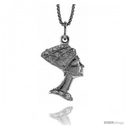 Sterling Silver Cleopatra Pendant, 3/4 in