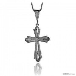 Sterling Silver Cross Pendant, 1 3/8 in -Style 4p25