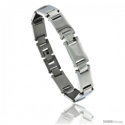 Solid Stainless Steel Link Bracelet, 8 in long -Style Bss8