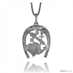 Sterling Silver Hope, Faith and Charity Pendant, 7/8 in
