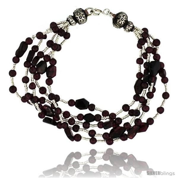 https://www.silverblings.com/17074-thickbox_default/6-1-2-in-sterling-silver-5-strand-bali-style-garnet-bead-bracelet.jpg