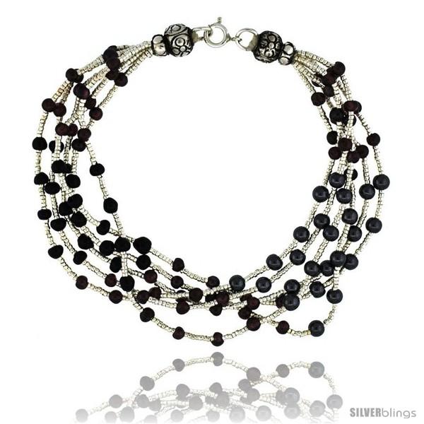 https://www.silverblings.com/17076-thickbox_default/8-in-sterling-silver-6-strand-bali-style-bead-bracelet-w-garnet-black-onyx-hematite-beads.jpg
