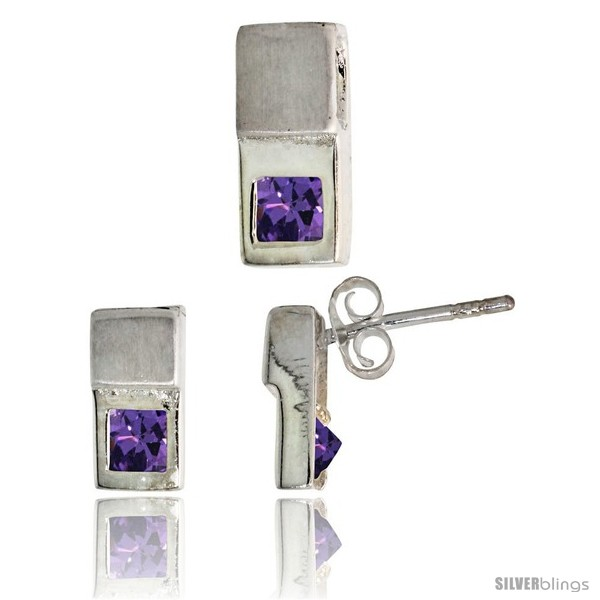 https://www.silverblings.com/17102-thickbox_default/sterling-silver-matte-finish-fancy-earrings-10mm-tall-pendant-slide-12mm-tall-set-w-princess-cut-blue-sapphire-colored.jpg