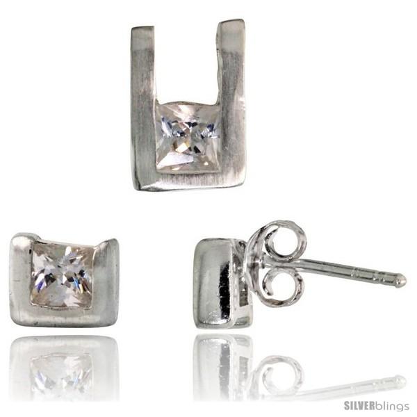 https://www.silverblings.com/17132-thickbox_default/sterling-silver-matte-finish-u-shaped-stud-earrings-6mm-tall-pendant-10mm-tall-set-w-princess-cut-cz-stones.jpg