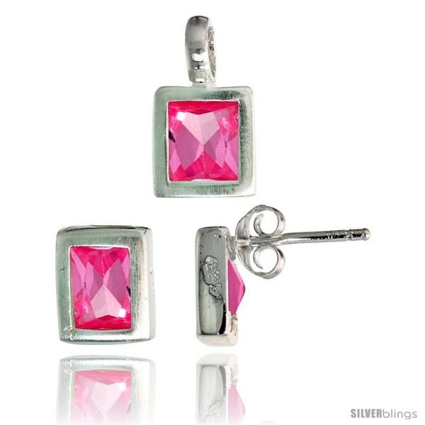 https://www.silverblings.com/17176-thickbox_default/sterling-silver-matte-finish-rectangular-earrings-8mm-tall-pendant-13mm-tall-set-w-emerald-cut-pink-tourmaline-colored.jpg