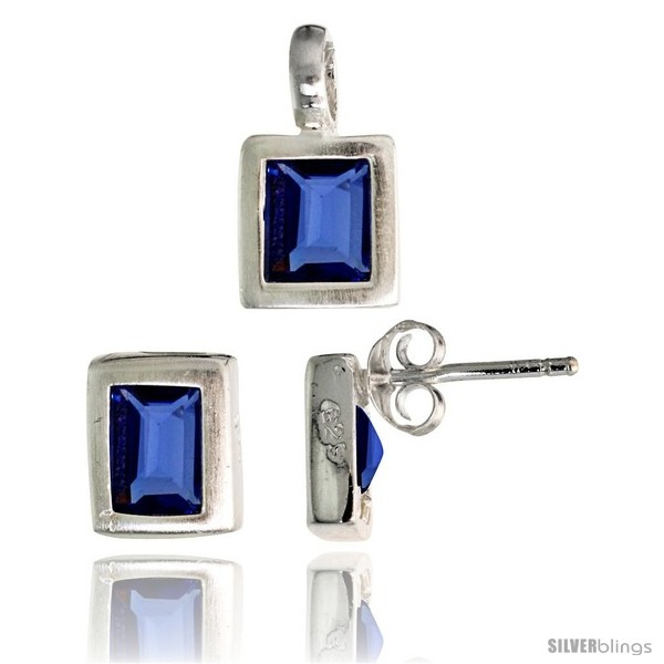 https://www.silverblings.com/17182-thickbox_default/sterling-silver-matte-finish-rectangular-earrings-8mm-tall-pendant-13mm-tall-set-w-emerald-cut-blue-sapphire-colored-cz.jpg
