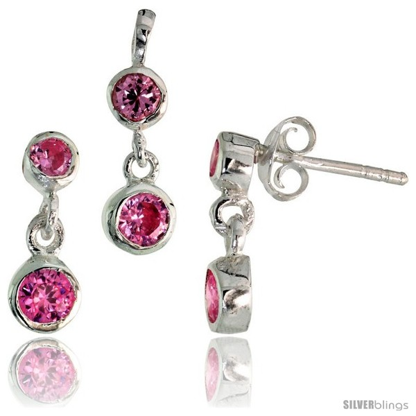 https://www.silverblings.com/17200-thickbox_default/sterling-silver-dangle-earrings-13mm-tall-pendant-17mm-tall-set-w-bezel-set-brilliant-cut-pink-tourmaline-colored-cz.jpg