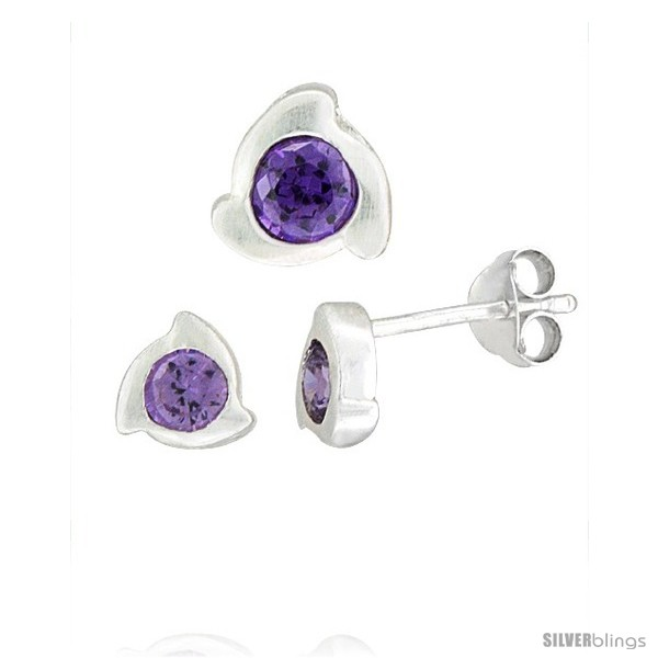 https://www.silverblings.com/17218-thickbox_default/sterling-silver-matte-finish-fancy-stud-earrings-6-mm-pendant-slide-8mm-tall-set-w-brilliant-cut-amethyst-colored-cz.jpg
