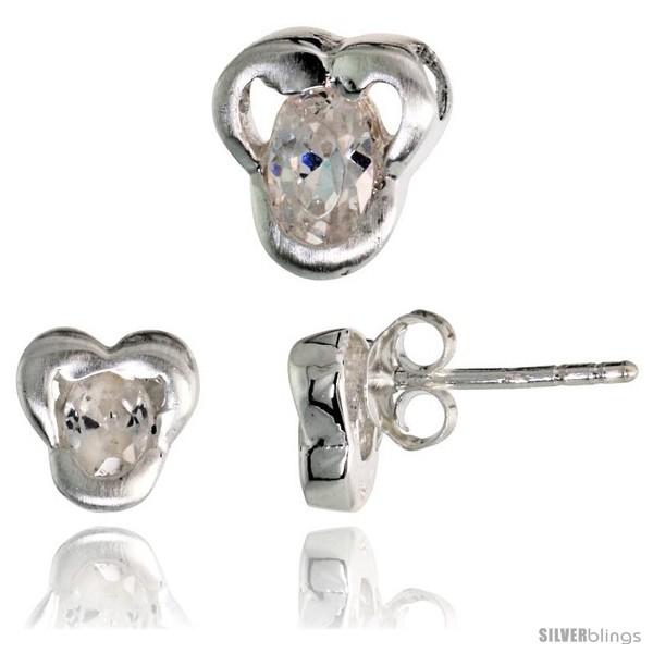 https://www.silverblings.com/17226-thickbox_default/sterling-silver-matte-finish-fancy-stud-earrings-7mm-tall-pendant-slide-9mm-tall-set-w-oval-cut-cz-stones.jpg