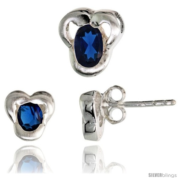 https://www.silverblings.com/17234-thickbox_default/sterling-silver-matte-finish-fancy-stud-earrings-7mm-tall-pendant-slide-9mm-tall-set-w-oval-cut-blue-sapphire-colored.jpg