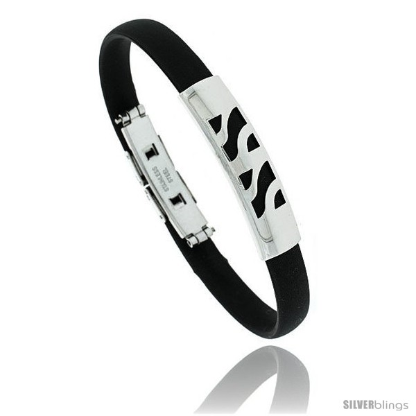 https://www.silverblings.com/1724-thickbox_default/stainless-steel-rubber-bracelet-3-8-in-wide-8-in-long-style-bss90.jpg