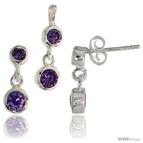 https://www.silverblings.com/17244-thickbox_default/sterling-silver-dangle-earrings-13mm-tall-pendant-17mm-tall-set-w-bezel-set-brilliant-cut-amethyst-colored-cz-stones.jpg