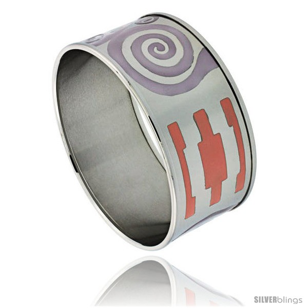 https://www.silverblings.com/1728-thickbox_default/stainless-steel-slip-on-bangle-bracelet-purple-orange-enameled-swirl-pattern-1-3-16-in-wide.jpg