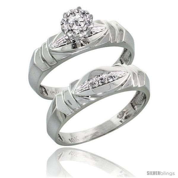 https://www.silverblings.com/17287-thickbox_default/10k-white-gold-diamond-engagement-rings-set-2-piece-0-06-cttw-brilliant-cut-3-16-in-wide.jpg
