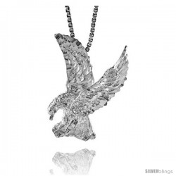 Sterling Silver Eagle Pendant, 1 in tall