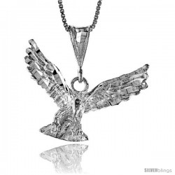 Sterling Silver Eagle Pendant, 5/8 in