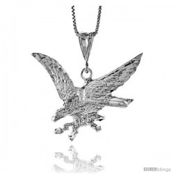 Sterling Silver Eagle Pendant, 1 in