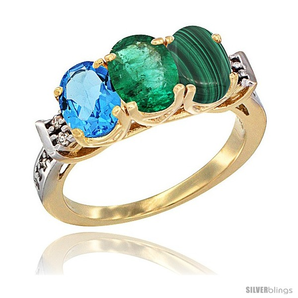 https://www.silverblings.com/17359-thickbox_default/10k-yellow-gold-natural-swiss-blue-topaz-emerald-malachite-ring-3-stone-oval-7x5-mm-diamond-accent.jpg