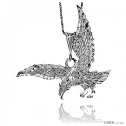 Sterling Silver Eagle Pendant, 1 7/8 in. X 7/8 in (mmX23 mm)