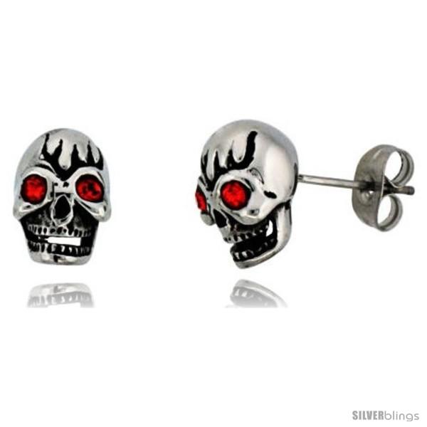 https://www.silverblings.com/1744-thickbox_default/stainless-steel-skull-stud-earrings-w-red-stone-eyes-1-2-in-tall.jpg