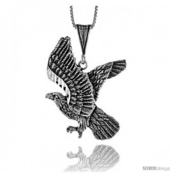 Sterling Silver Eagle Pendant, 1 1/2 in
