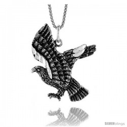 Sterling Silver Eagle Pendant, 1 1/16 in