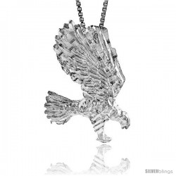 Sterling Silver Eagle Pendant, 1 1/16 in tall -Style 4p277