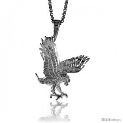 Sterling Silver Eagle Pendant, 3/4 in