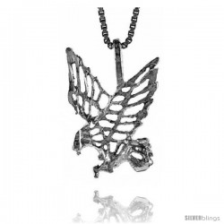 Sterling Silver Eagle Pendant, 3/4 in -Style 4p288