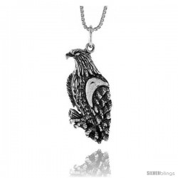 Sterling Silver Eagle Pendant, 1 1/16 in -Style 4p289