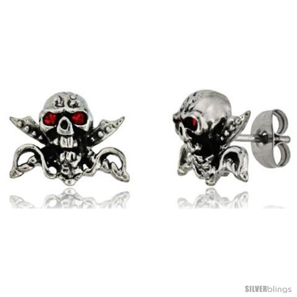 https://www.silverblings.com/1750-thickbox_default/stainless-steel-skull-crossed-swords-stud-earrings-w-red-stone-eyes-1-2-in-11-mm.jpg