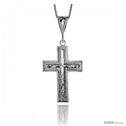 Sterling Silver Cross Pendant, 1 1/4 in -Style 4p30
