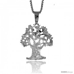 Sterling Silver Tree of Life Pendant, 3/4 in Tall