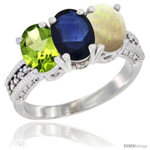https://www.silverblings.com/17661-thickbox_default/14k-white-gold-natural-peridot-blue-sapphire-opal-ring-3-stone-oval-7x5-mm-diamond-accent.jpg