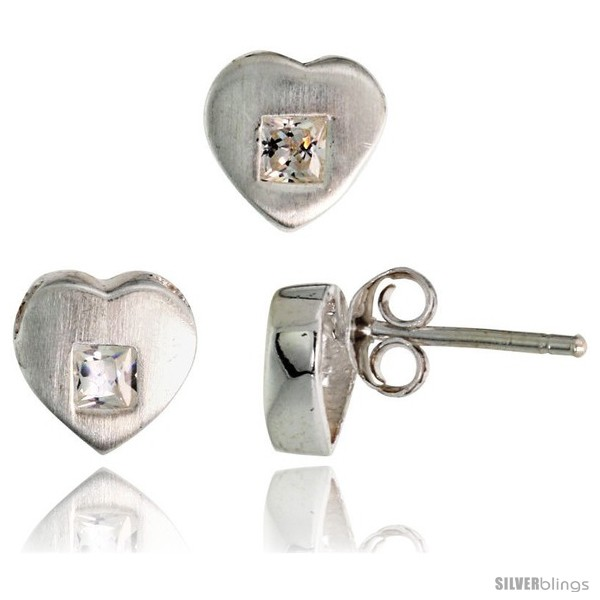 https://www.silverblings.com/17681-thickbox_default/sterling-silver-matte-finish-heart-earrings-8mm-tall-pendant-slide-9mm-tall-set-w-princess-cut-cz-stones.jpg