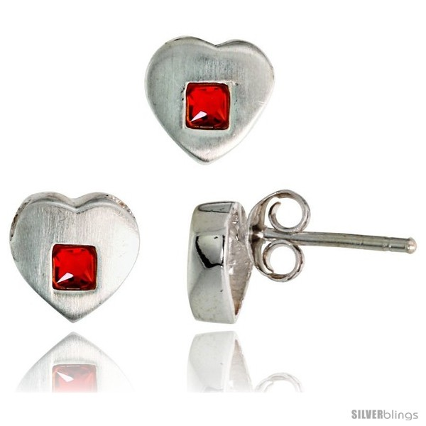 https://www.silverblings.com/17687-thickbox_default/sterling-silver-matte-finish-heart-earrings-8mm-tall-pendant-slide-9mm-tall-set-w-princess-cut-ruby-colored-cz-stones.jpg