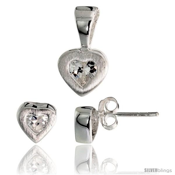 https://www.silverblings.com/17695-thickbox_default/sterling-silver-matte-finish-heart-earrings-7mm-tall-pendant-13mm-tall-set-w-princess-cut-cz-stones.jpg