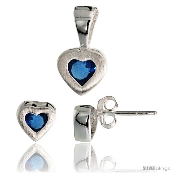 https://www.silverblings.com/17703-thickbox_default/sterling-silver-matte-finish-heart-earrings-7mm-tall-pendant-13mm-tall-set-w-princess-cut-blue-sapphire-colored-cz.jpg